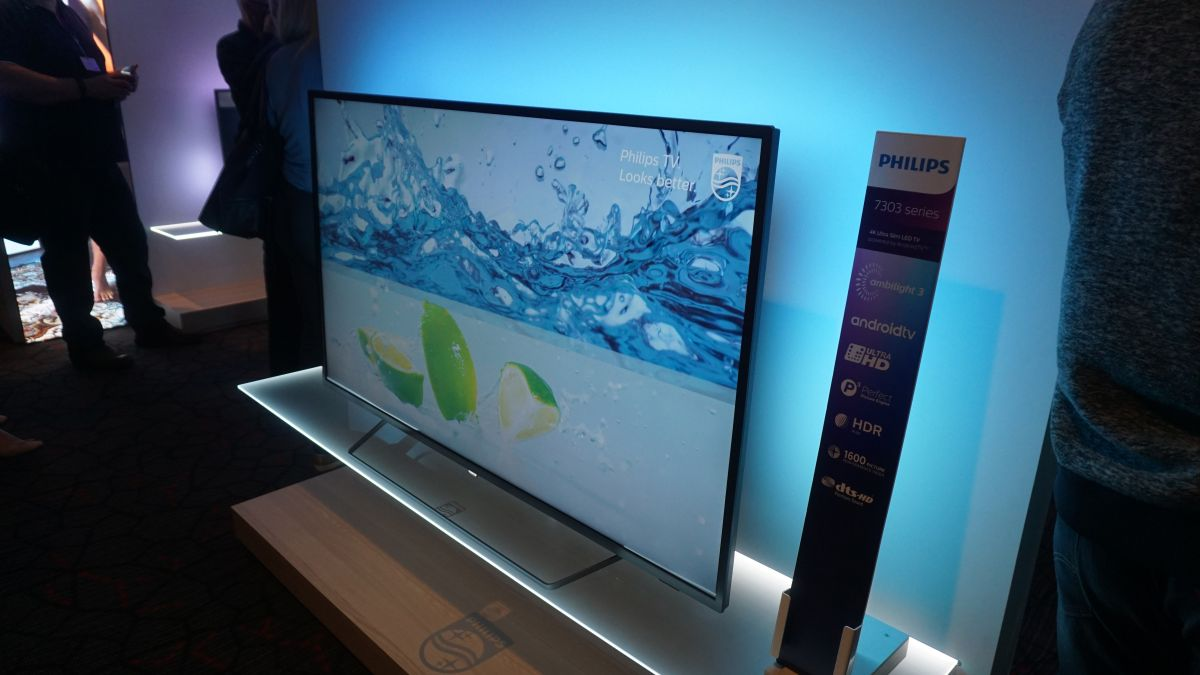 philips 7303 series 4k hdr tv hands on review techradar. Black Bedroom Furniture Sets. Home Design Ideas