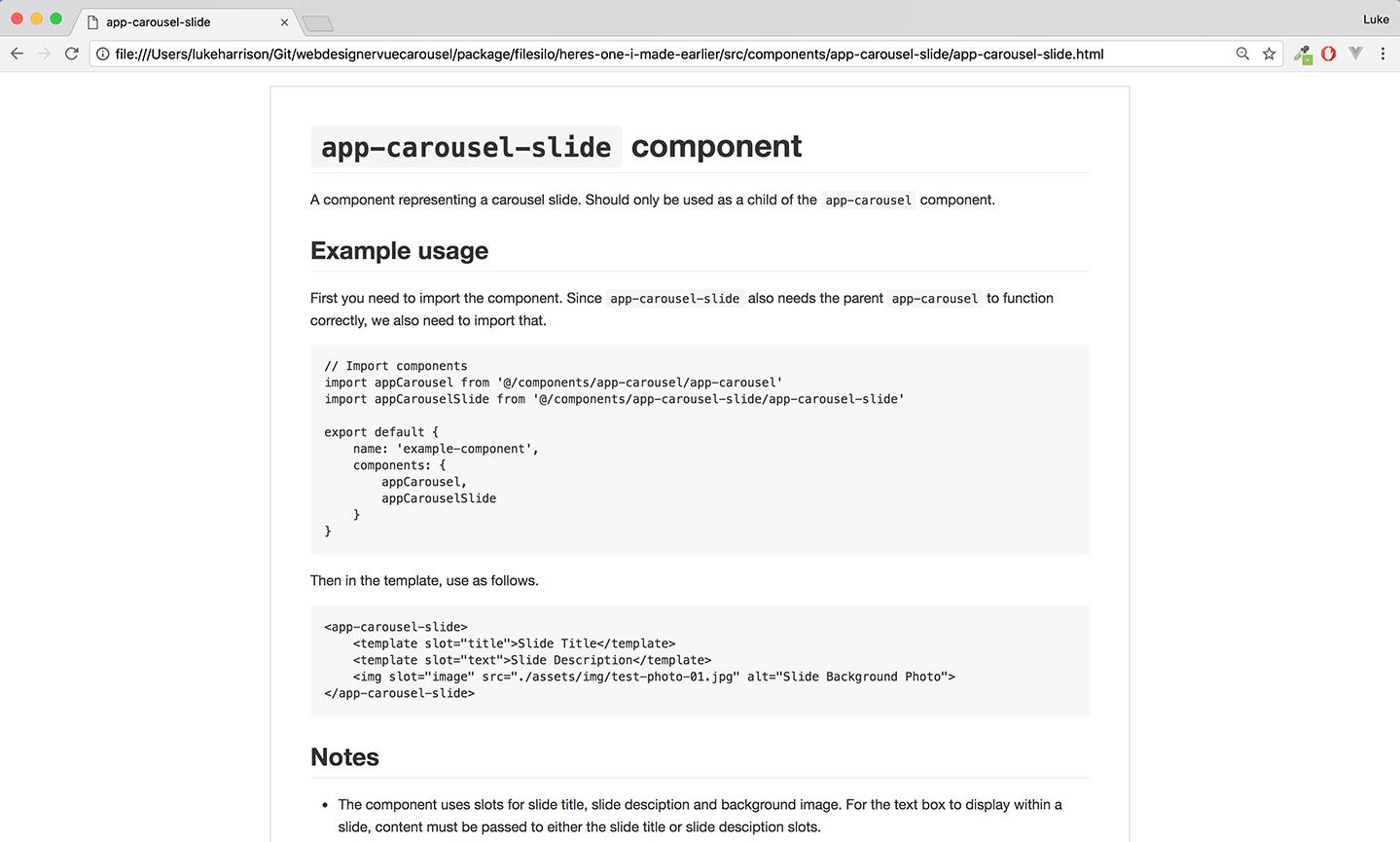Vue.js carousel component