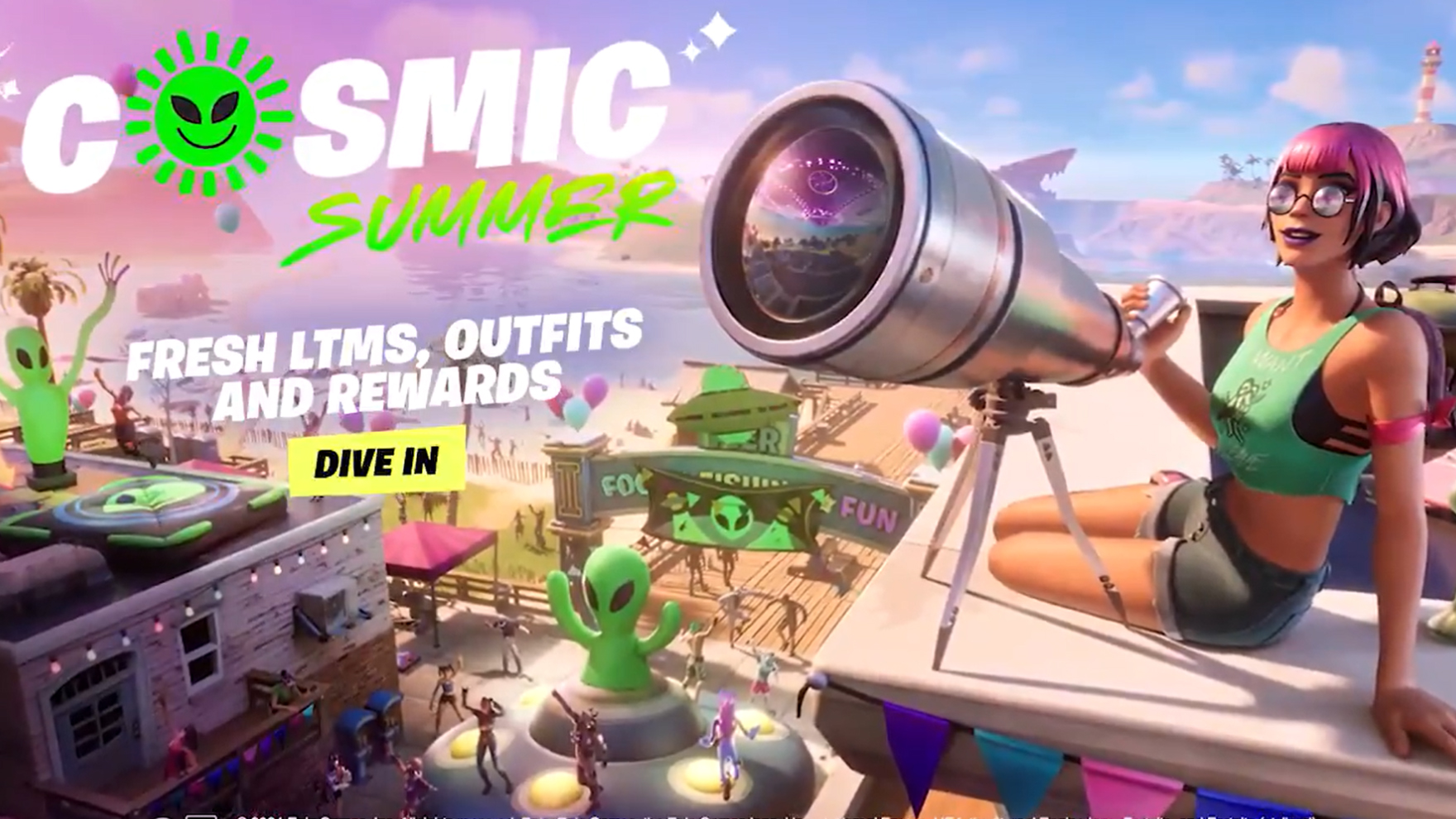 Fortnite launches a 'Cosmic Summer' update with aliens and space-themed fun