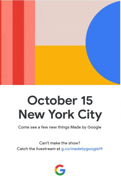 Google Pixel 4 invite