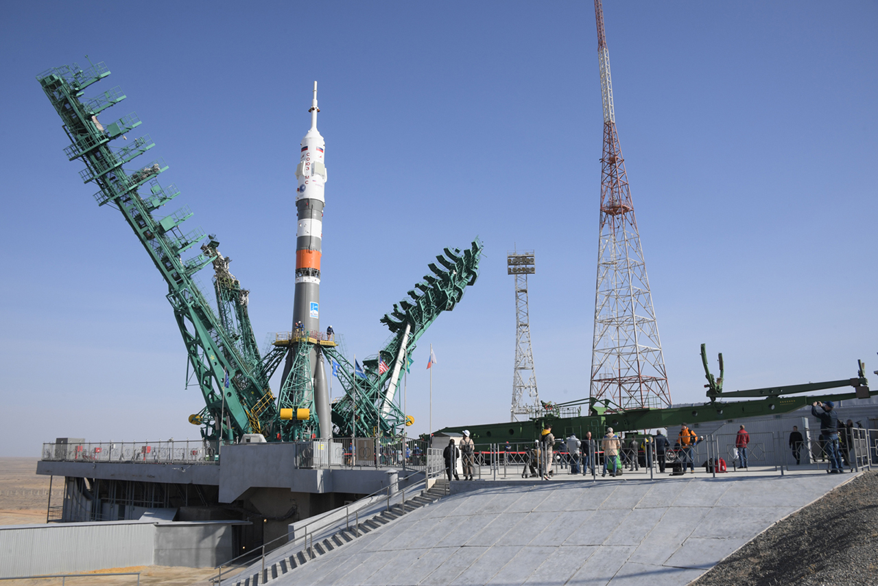 <p>You can See a Soyuz rocket Launching a US-Russian Team to the International Space Station early Friday thumbnail