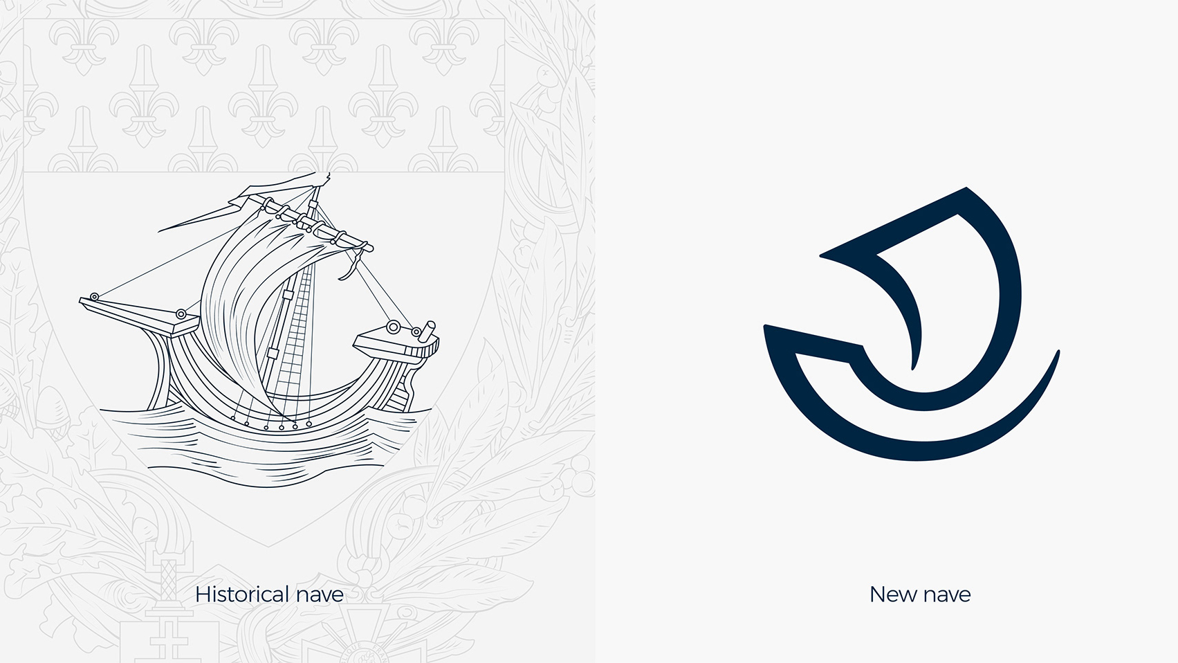 Old boat nave next to the new single stroke logo