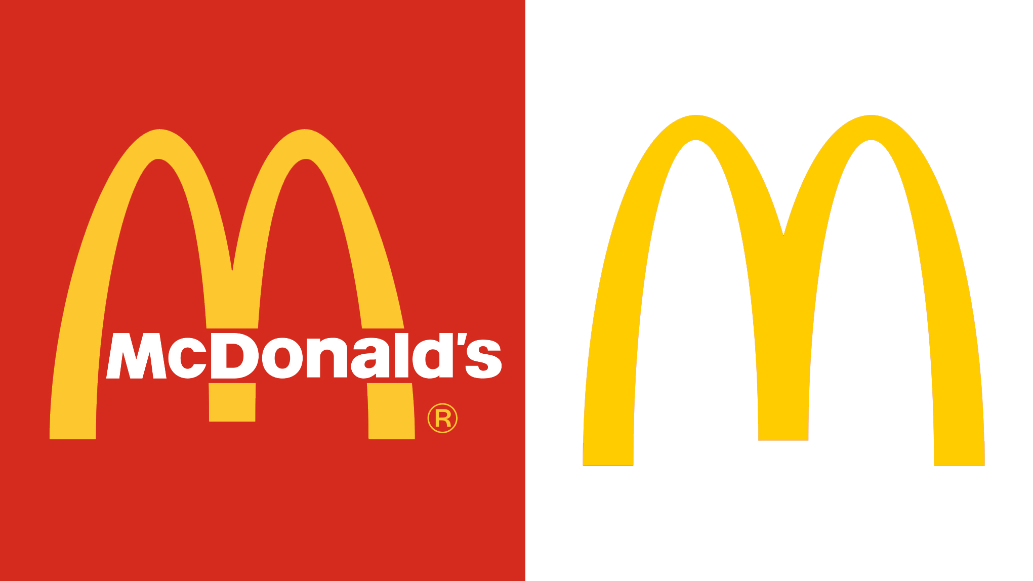 McDonald's logo before and after