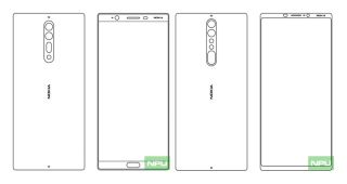 Nokia 9 and Nokia 8 sketches shows bezels being kept to a minimum