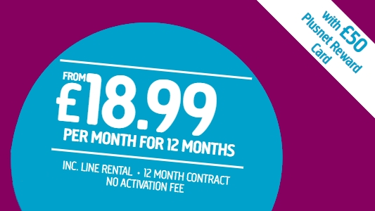 Plusnet's reward card offer makes it one of the best cheap broadband deals available