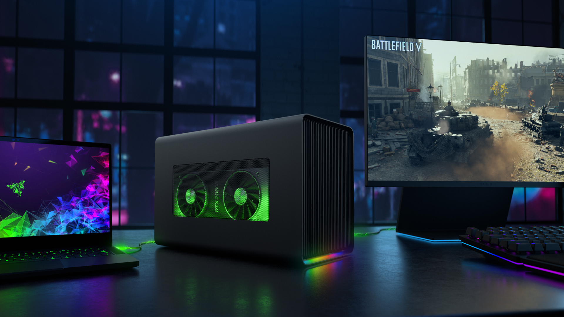 Razer Core X Chroma eGPU beefs up power supply and adds fancy lighting