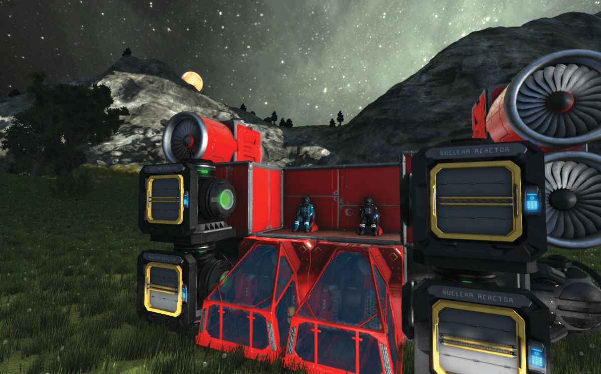 An erratic journey to the moon in Space Engineers