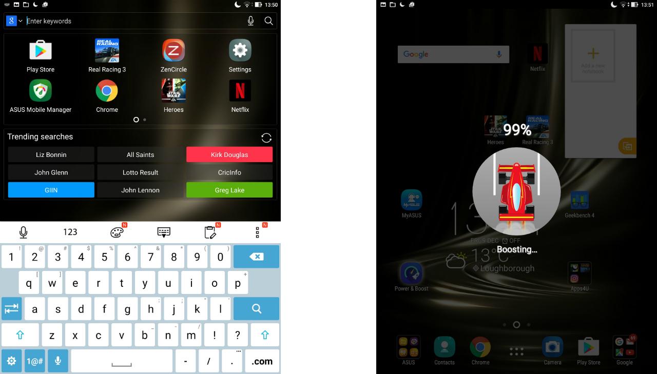 zenpad 3s 10 youtube application freezes