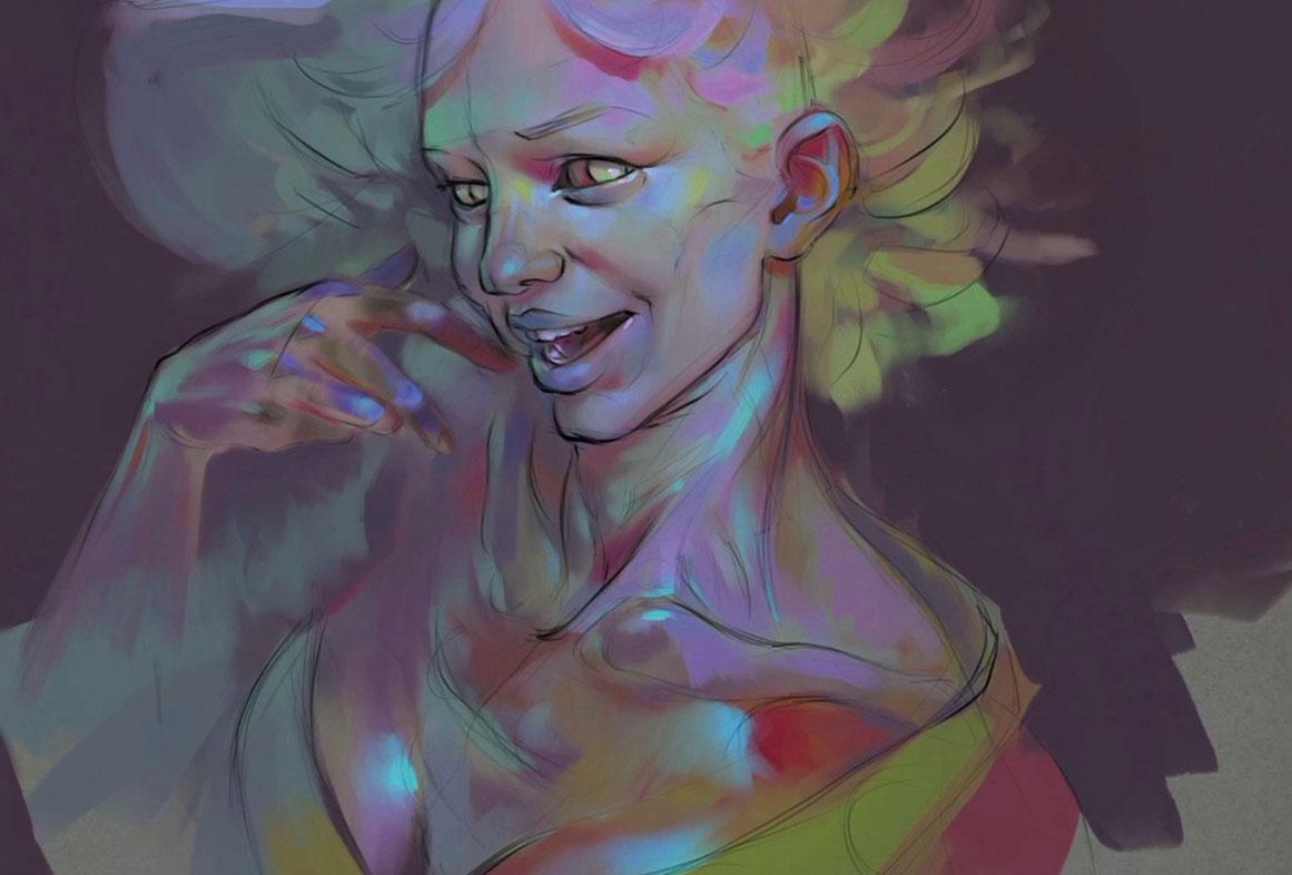 create a colourful zombie