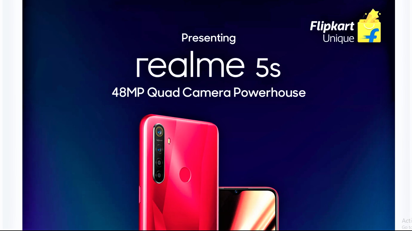 Flipkart confirms Realme 5s specifications ahead of the imminent launch
