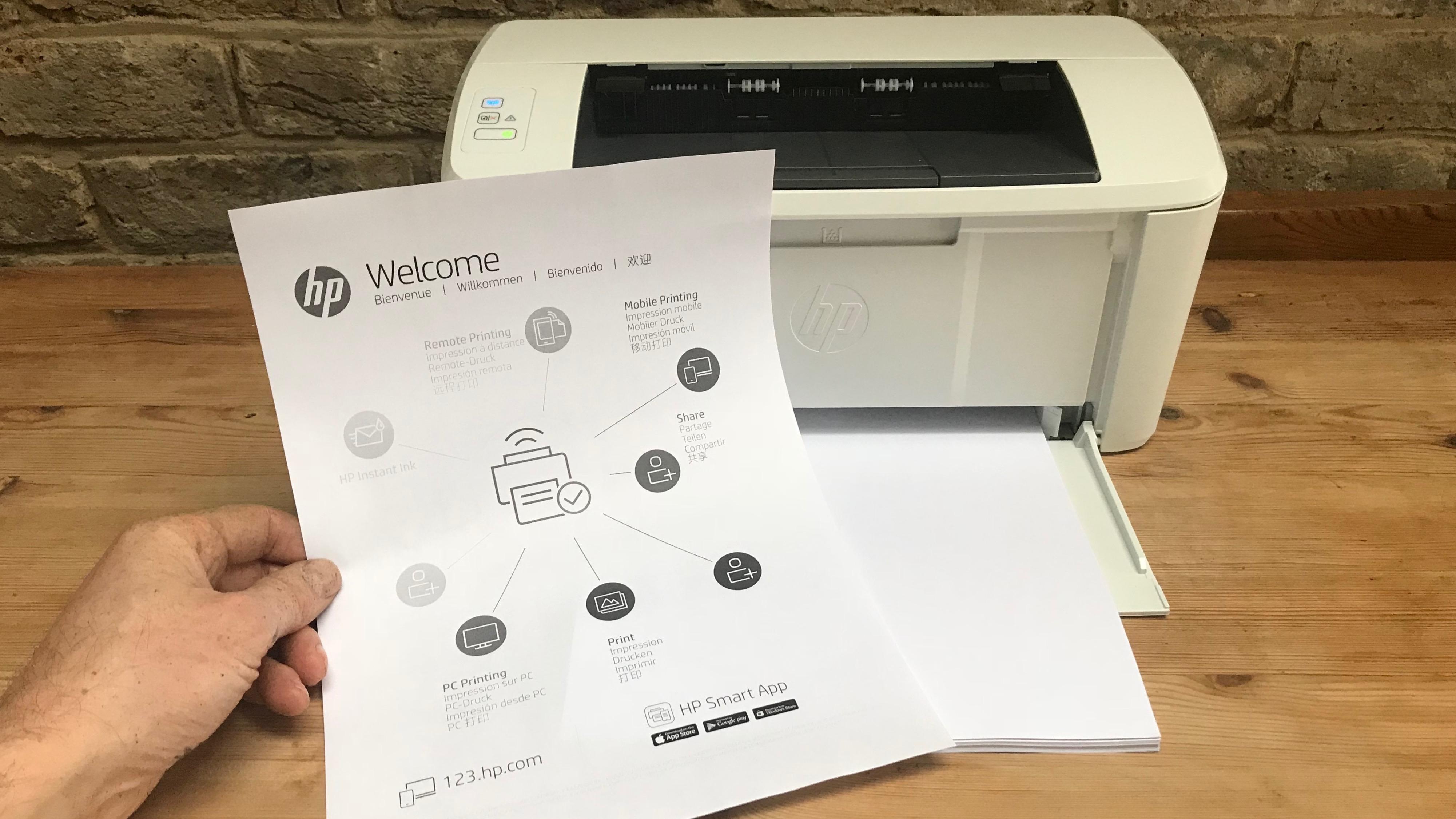 HP LaserJet Pro M15w test page