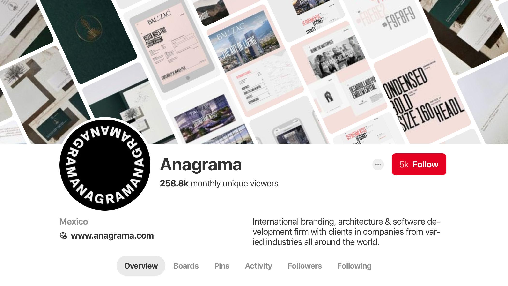 Anagrama Pinterest