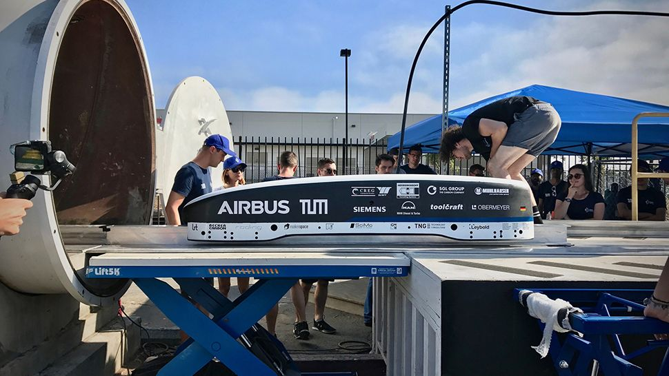 Hyperloop pod competition winner hits a top speed of 200mph