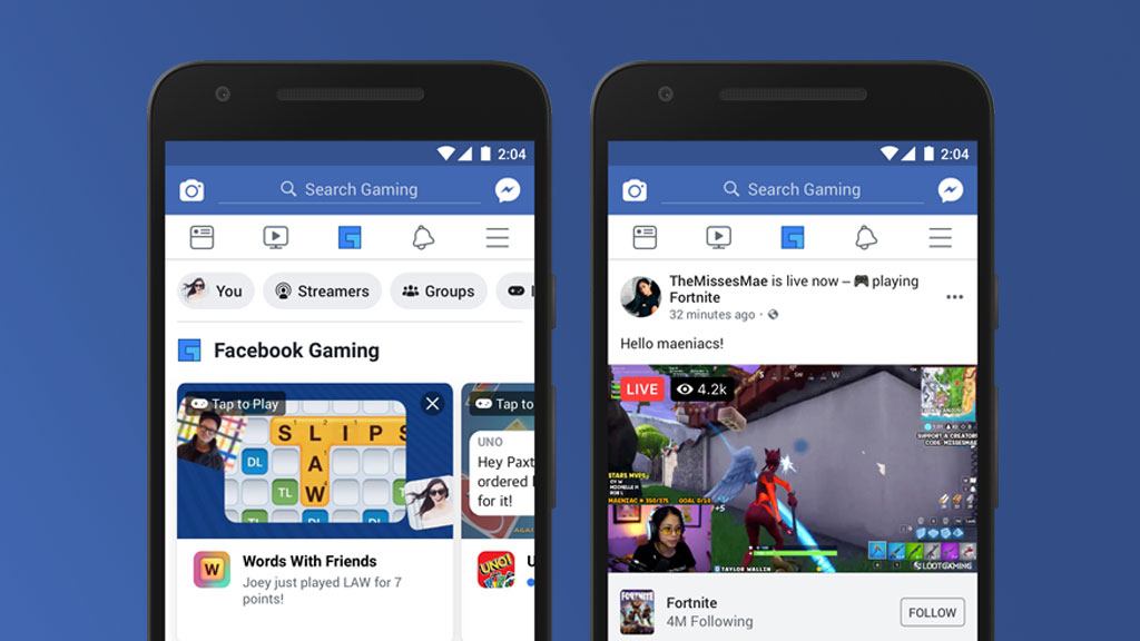 Facebook's updated mobile app now has a dedicated gaming section