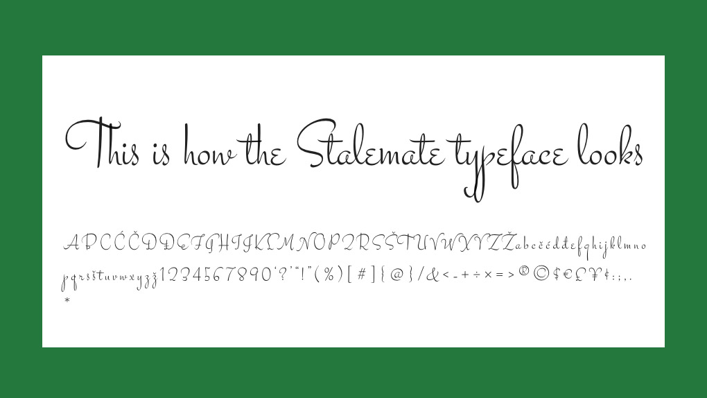 Free web fonts Stalemate