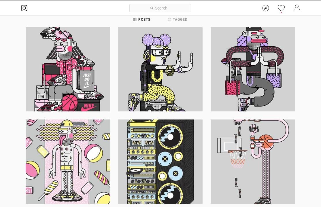 Social media platforms: Tim Easley's work on Instagram