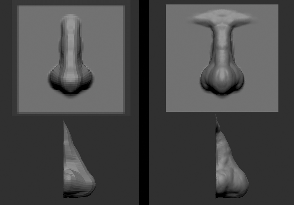 How to sculpt a human nose in ZBrush: 4 easy steps - Graphic