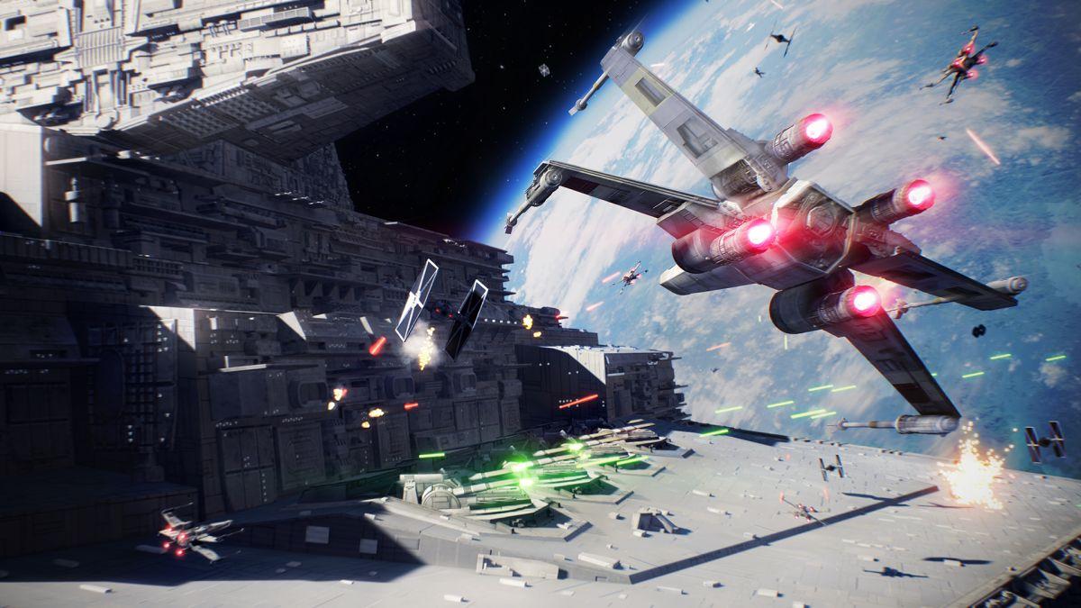 Star Wars Battlefront 2 video shows off 24-player Starfighter Assault battle