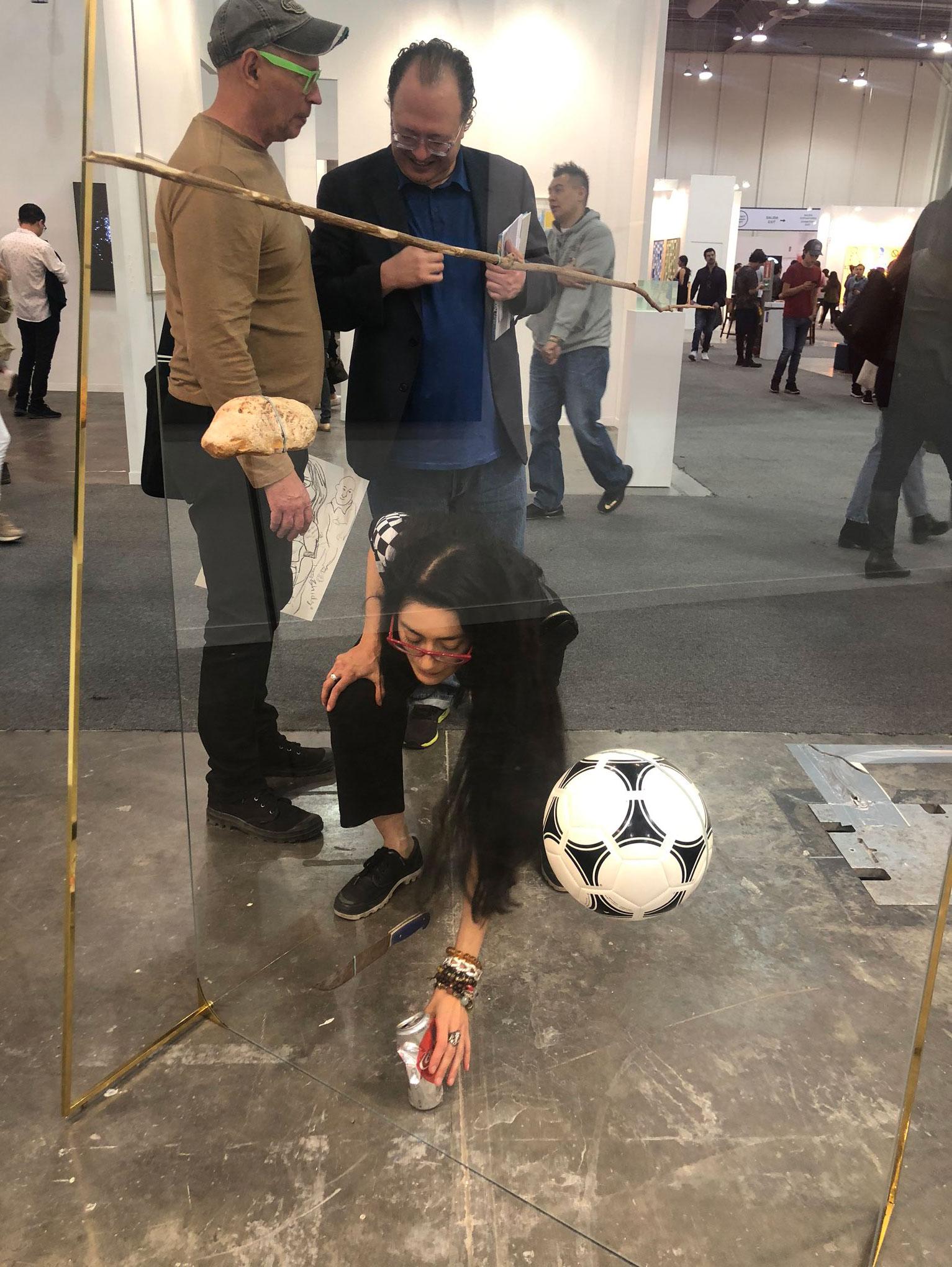 art fair smashed sculpture