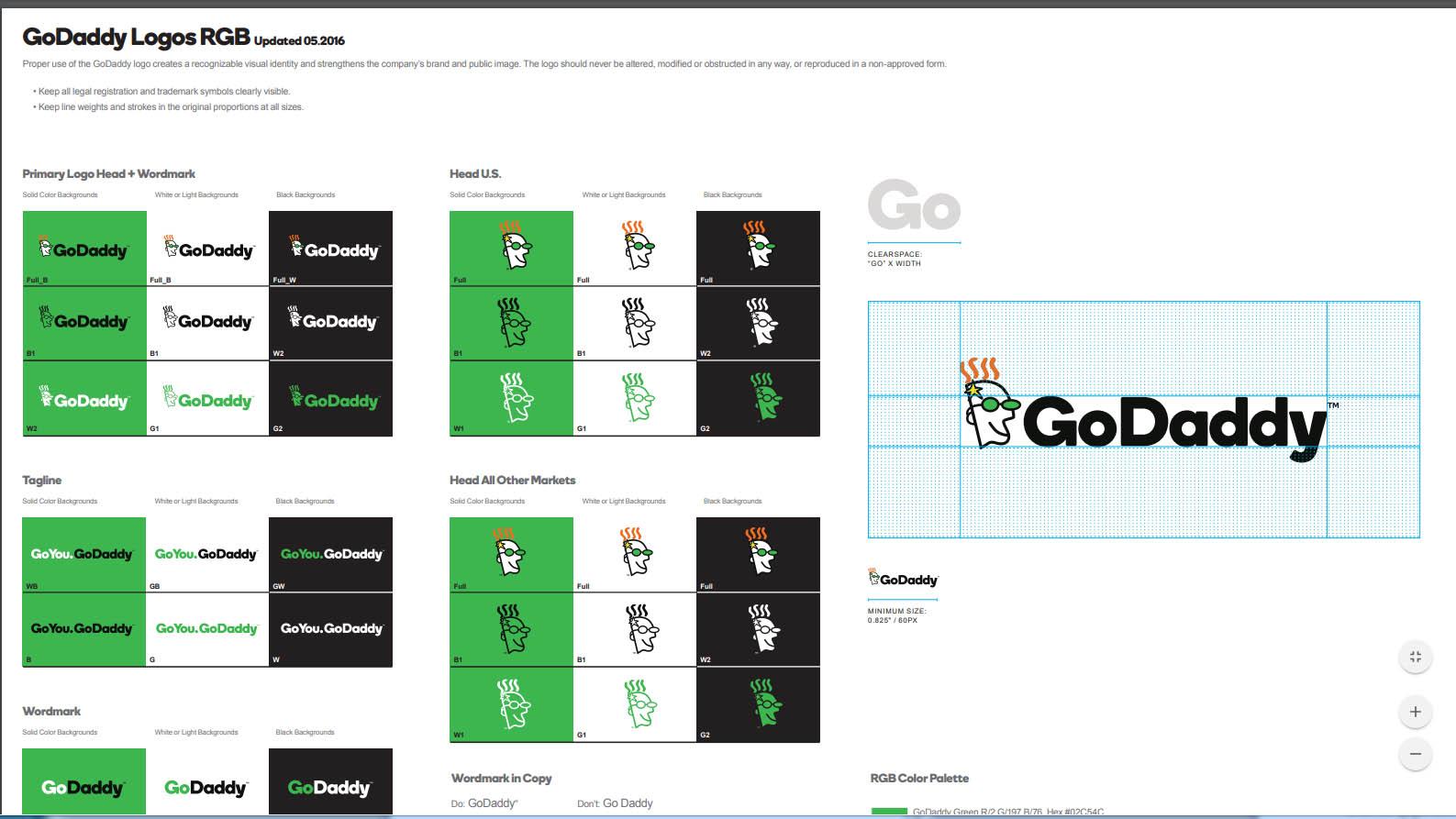 GoDaddy logos