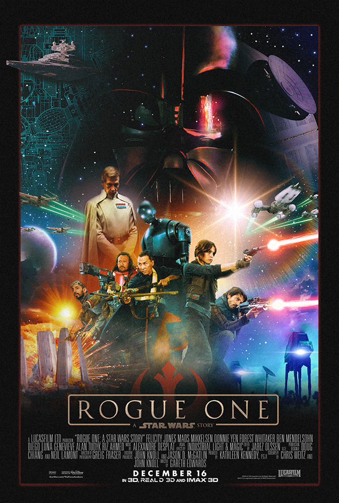 the force is strong with these rogue one fan posters