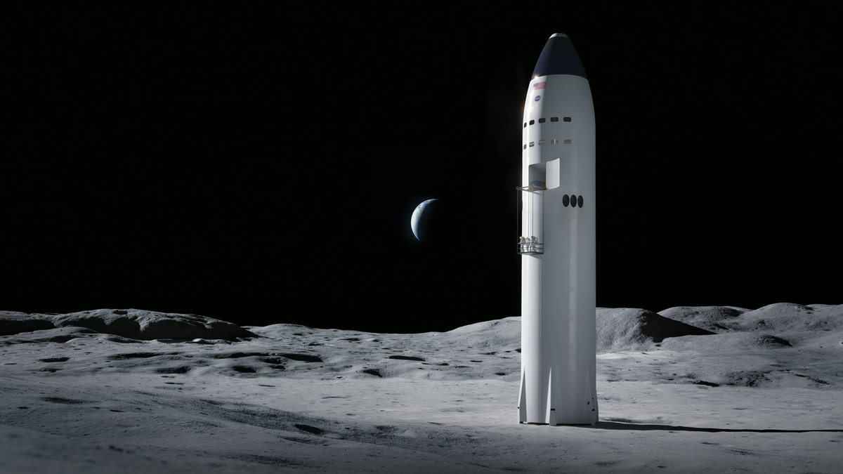 <p>SpaceX wins contract to build lunar lander for NASA astronauts thumbnail
