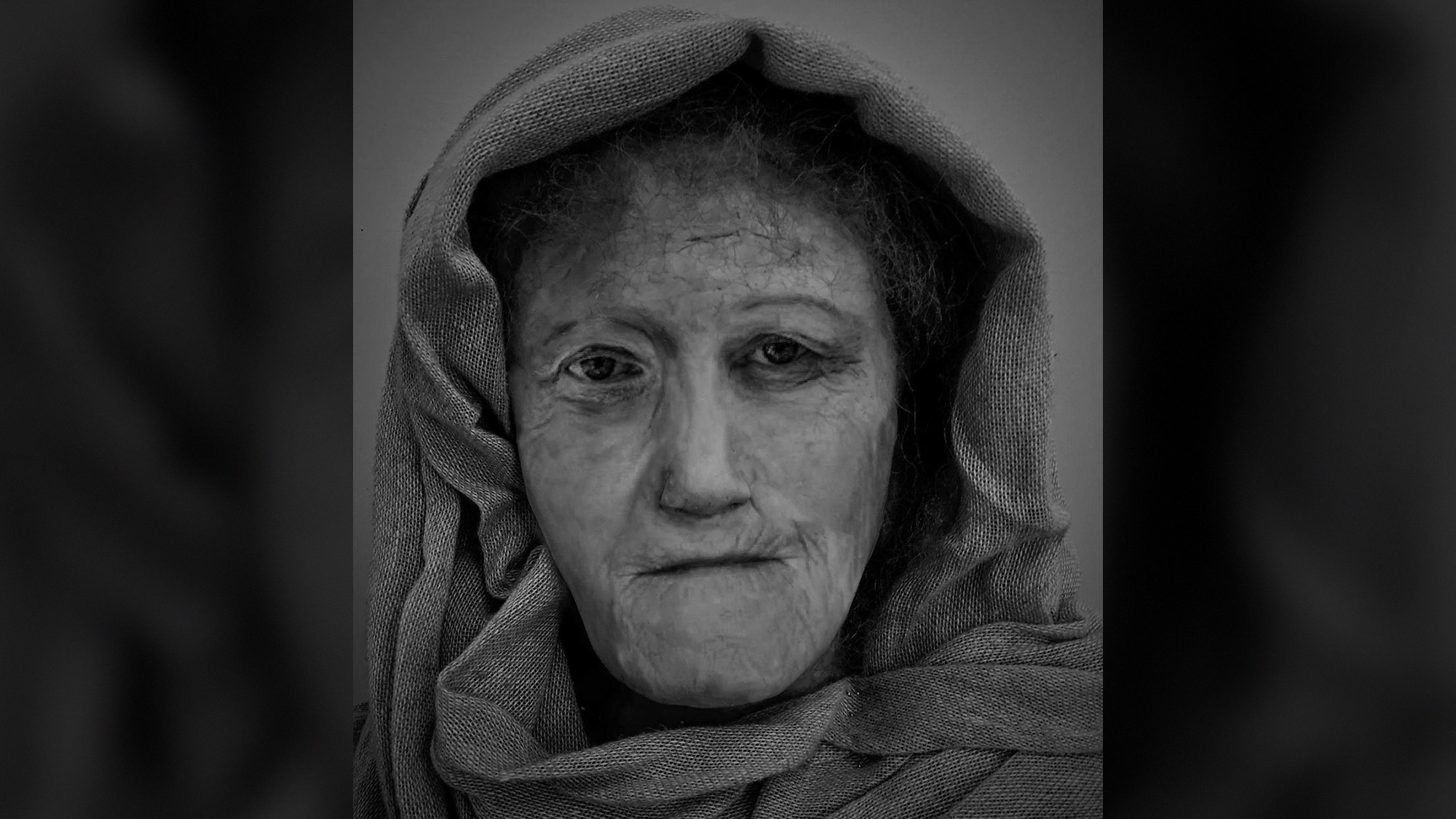 Toothless Druid Woman s Face Comes Alive in Wax Wrinkles and All