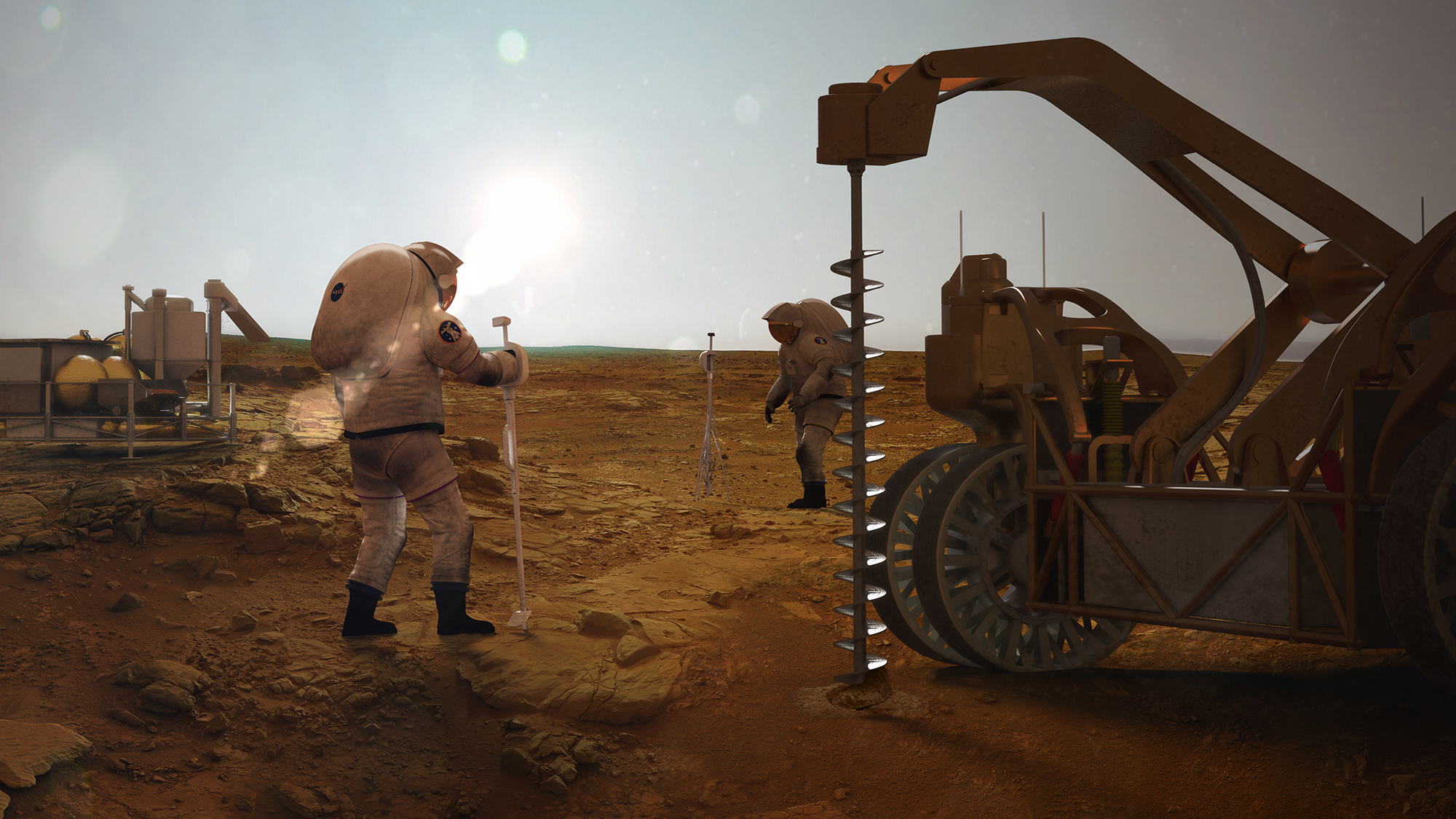 Mars colonists could get fuel and oxygen from water on the Red Planet