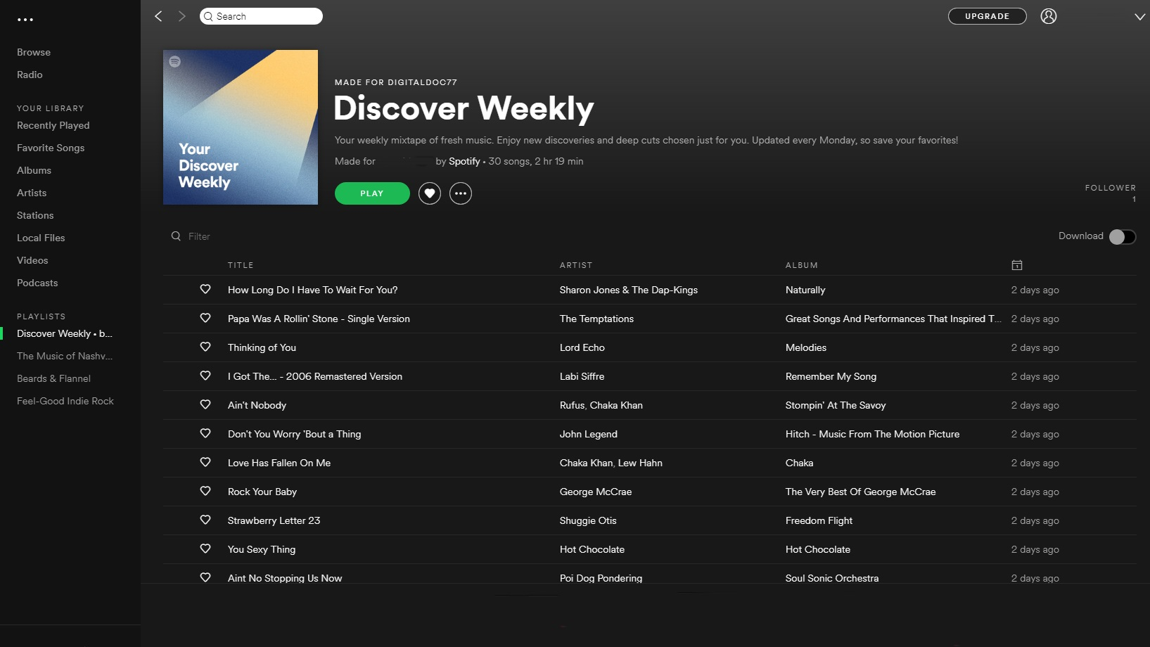 Spotify's 'Discover Weekly' feature