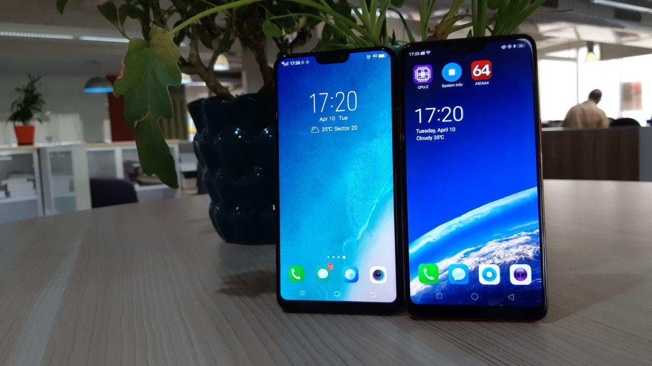 Comparison: Vivo V9 vs Oppo F7