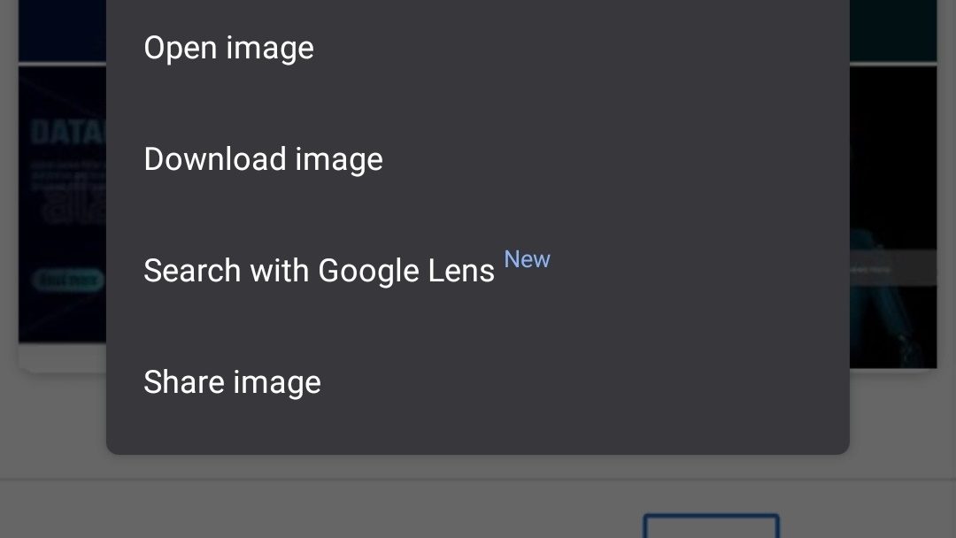 Google Lens search in Chrome for Android