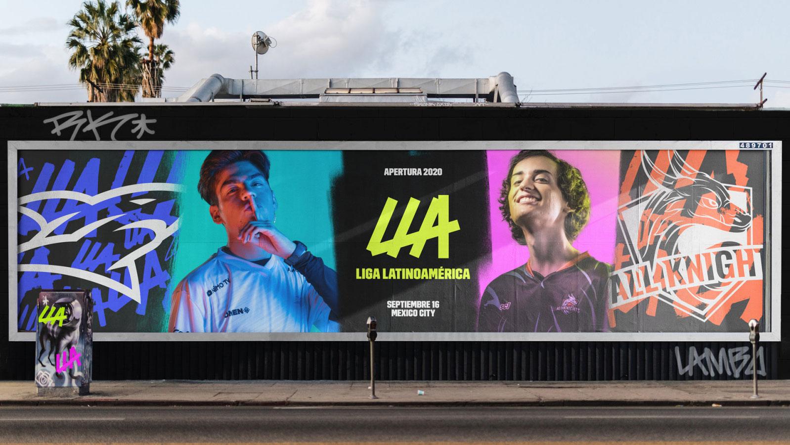 LLA Liga Latinamerica identity by DesignStudio