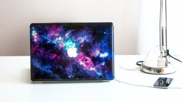 Stardust MacBook decal