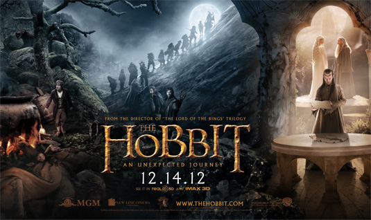 Montage of stills from The Hobbit movie