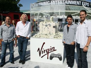 Richard Branson launches new competitive console gaming service at E3 2010 in Los Angeles