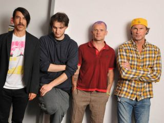 The band with new guitarist Josh Klinghoffer second from left