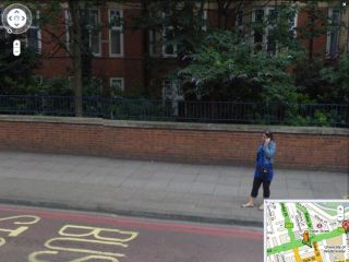Some faces are clearly viewable on Street View
