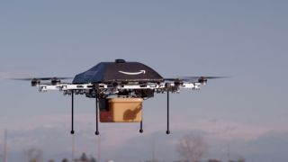 Amazon drone flying