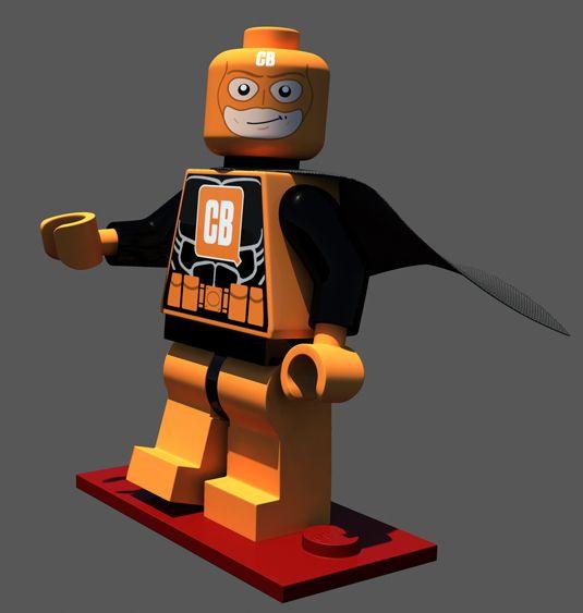 Create your own 3D Lego superhero