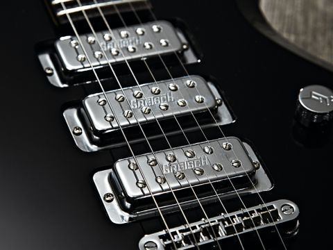 The CVT's mini humbuckers were previously seen on the Electromatic Jets.