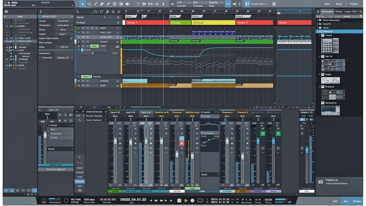 Presonus studio one 3 review musicradar for Music studio design software