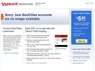 GeoCities to close in the summer