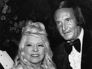 Don Kirshner right with screen icon Mae West in 1976
