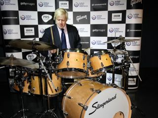 Boris Johnson + drummer gags = shooting massive fish in a barrel perfectly proportioned for fish-shooting