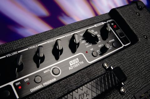The ADV100VTH's control panel combines old and new tech.