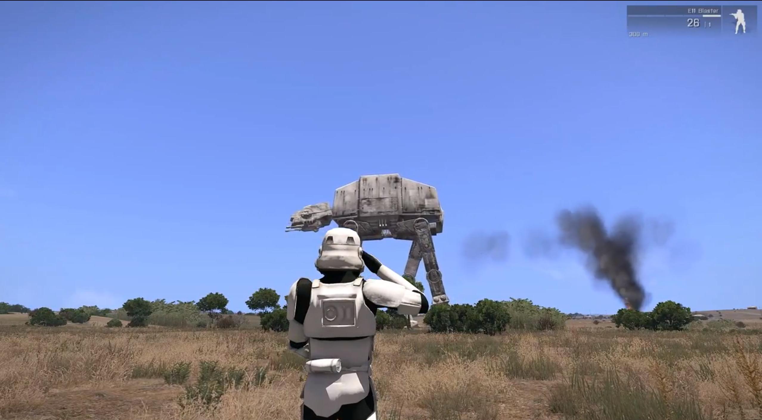 Star Wars In Arma Mod Shows Promising ATAT Combat PC Gamer - Minecraft spielen star wars