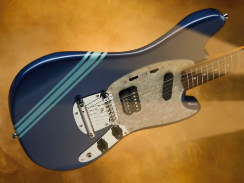 Unfortunately, the classic Fender Mustang tuning instability has survived the modification of the over-engineered vibrato.