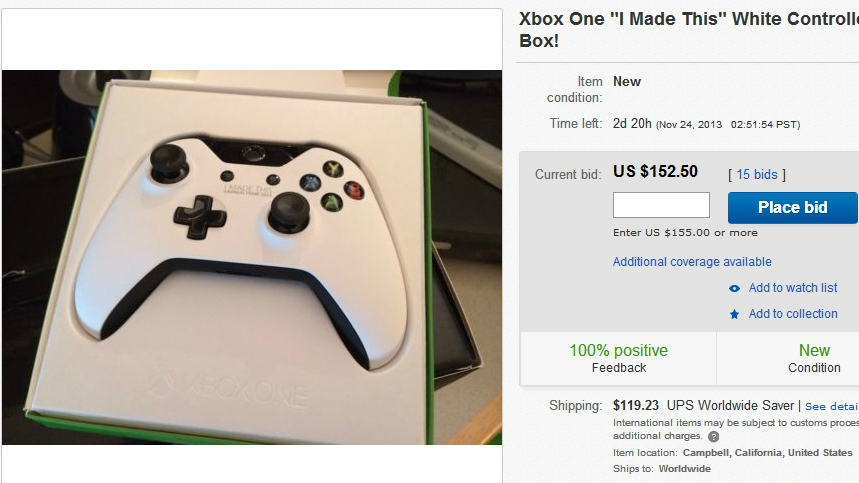 A White Xbox One Controller Surfaces On Ebay To Tease Us All Techradar