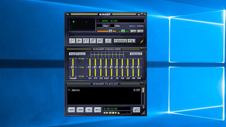 winamp audio player free download for windows xp
