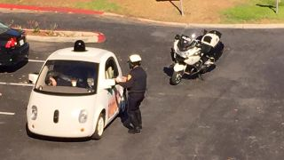 Google self-driving car police